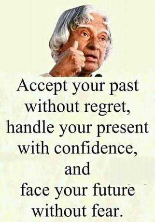 life quotes - Accept your past without regret , handle your present with confidence , and face your future without fear . - ShareChat