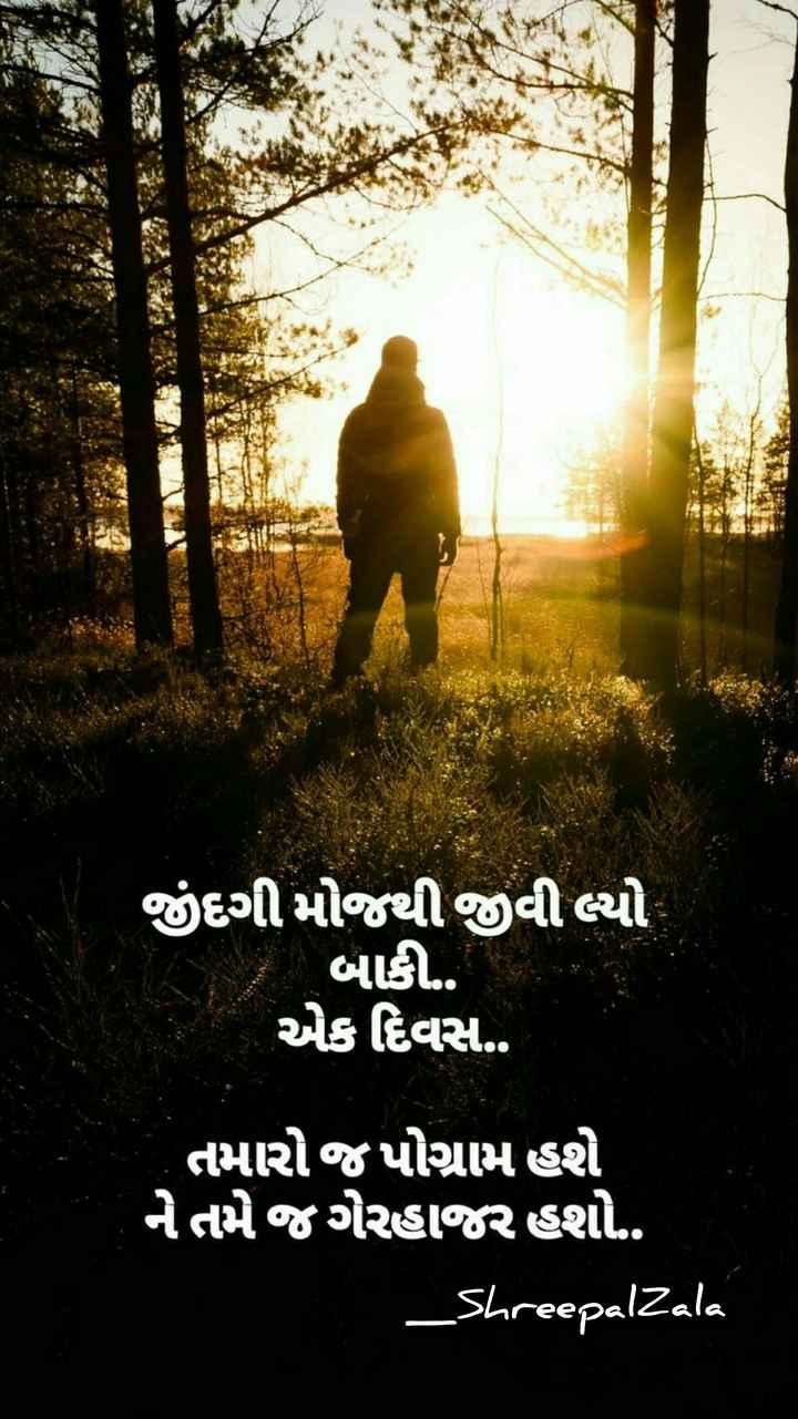 l love you zindagi😊 - જીંદગી મોજથી જીવી લ્યો બાકી . . એક દિવસ . . તમારો જપોગ્રામ હશે નેતમે જગેરહાજર હશો . . _ Shreepal Zala - ShareChat