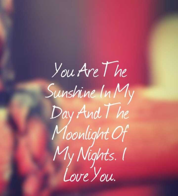 love❤ - You Are The Sunshine In My Day And The Moonlight of My Nights . I Love you . - ShareChat