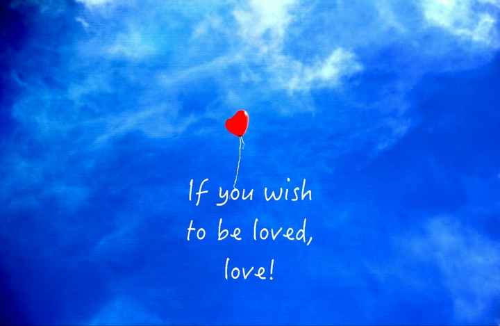 love - If you wish to be loved , love ! - ShareChat