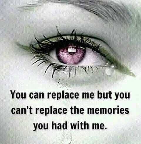 loveable feeling.. - You can replace me but you can ' t replace the memories you had with me . - ShareChat