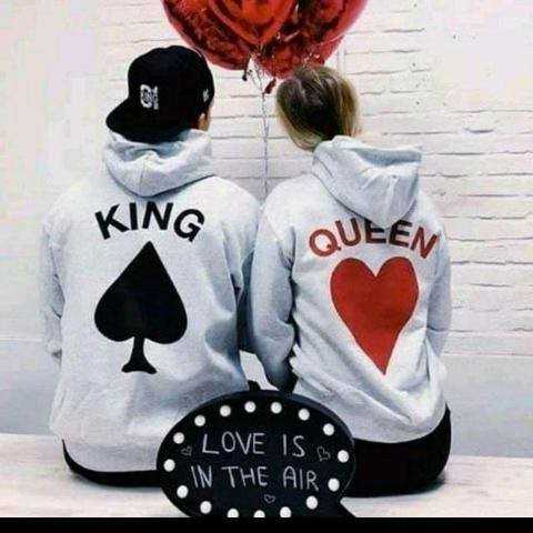 💏 love couple 💏 - KING QUEEN LOVE ISS IN THE AIR - ShareChat