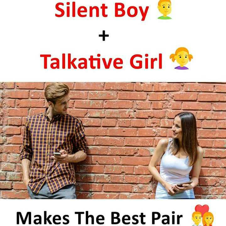 love love - Silent Boy Talkative Girl Makes The Best Pair - ShareChat