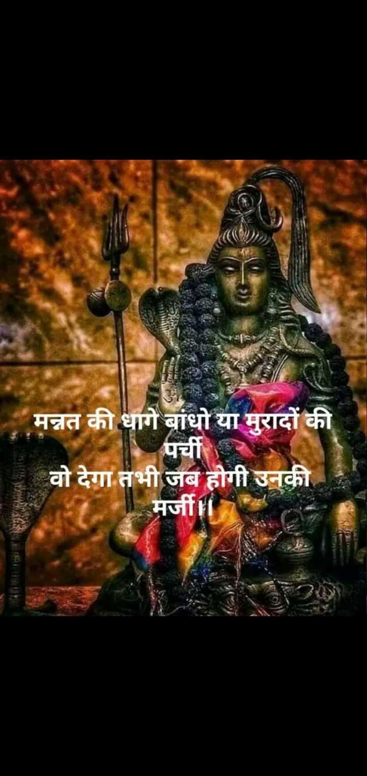 mahadev mahadev - मन्नत की धागे बांधो या मुरादों की   पच वो देगा तभी जब होगी उनकी मर्जी । - ShareChat