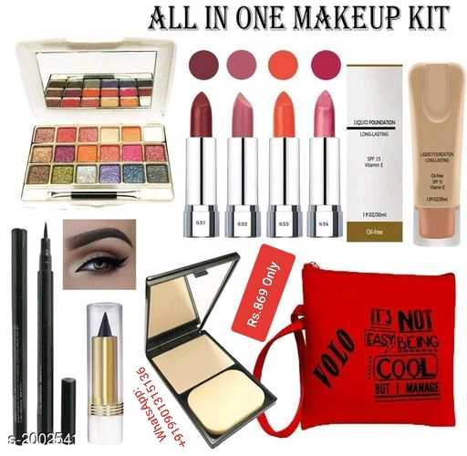 makeup - ALL IN ONE MAKEUP KIT LOUD FOUNDATION 2 . Rs . 869 Only ITS NOT FAST BEING COOL BUT MANAGE WhatsApp : + 919901315136 $ 2002541 - ShareChat