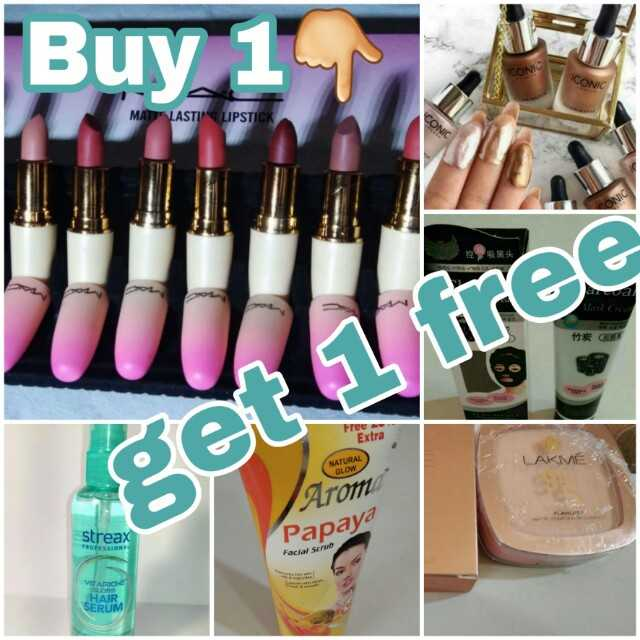makeup - Buy 1 CONI CONIC MAT LASTING LIPSTICK CONIC 11 * GED Free Extra LAKME NATURAL GLOW Arom Papaya streax Facial Scrub VITARIOS HAIR SERUM - ShareChat
