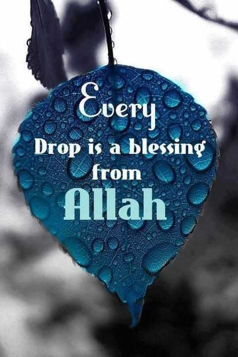 mashaallah - Every Drop is a blessing from Allah - ShareChat