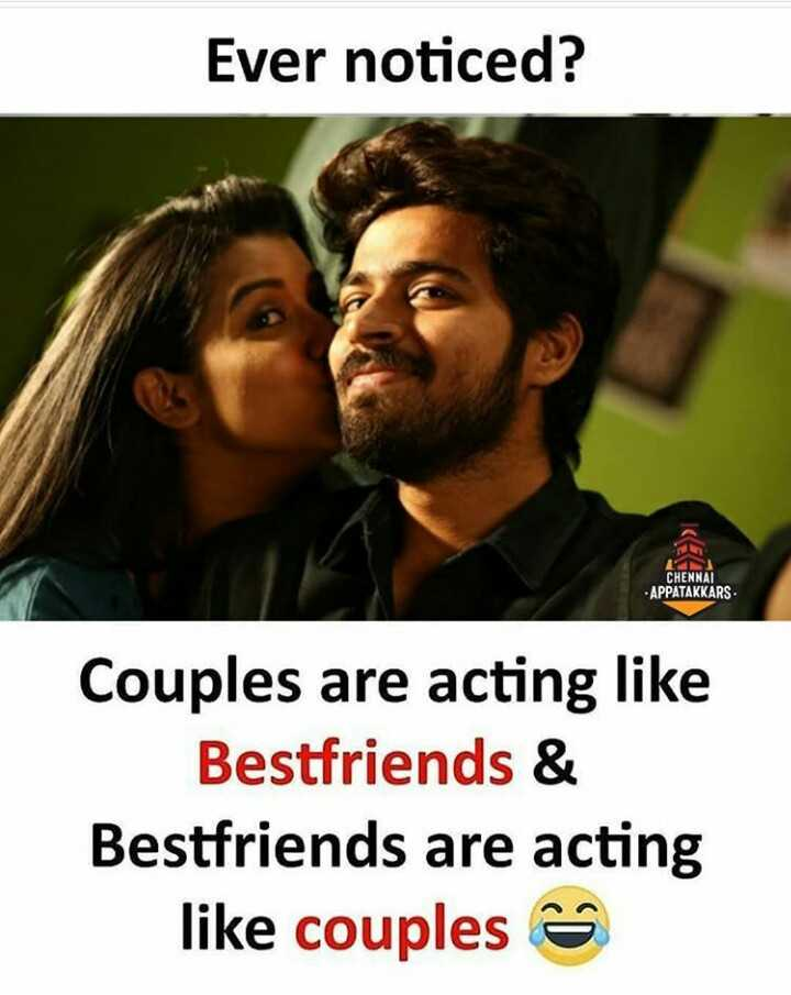 mass trend 😎😎😎 - Ever noticed ? CHENNAI APPATAKKARS Couples are acting like Bestfriends & Bestfriends are acting like couples - ShareChat