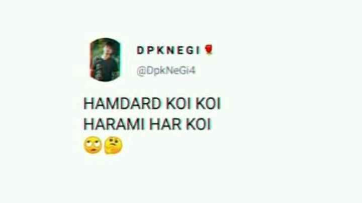 meme - DPKNEGI @ DpkNeG4 HAMDARD KOI KOI HARAMI HAR KOI - ShareChat