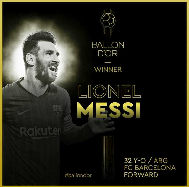 messi ❤ - PALLON D ' OR WINNER LIONEL MESSI Rakuten 32 Y - O / ARG FC BARCELONA FORWARD # ballondor - ShareChat