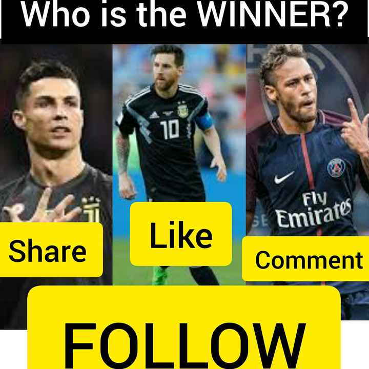 messi - who is the WINNER ? FILOS Emirates Like Share Comment Share Like FOLLOW - ShareChat