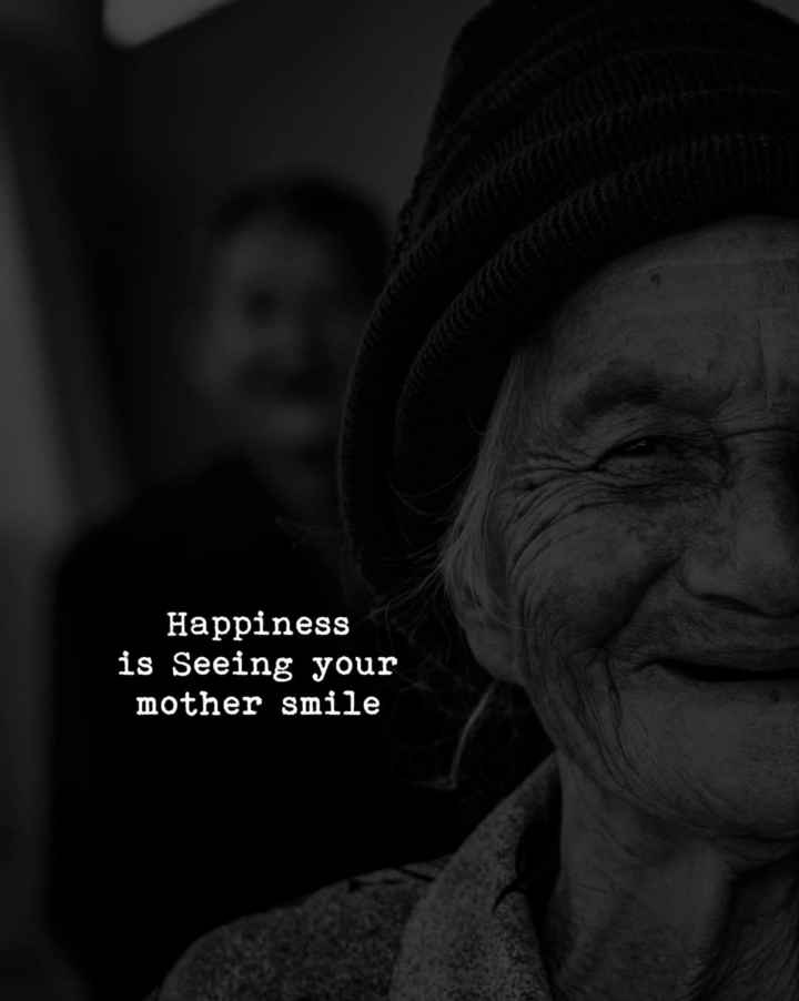 mom - Happiness is Seeing your mother smile - ShareChat