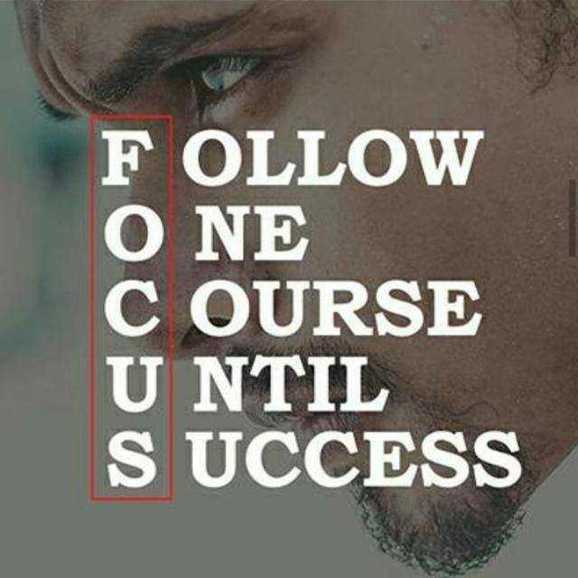 💪 motivation - FOLLOW O NE COURSE UNTIL SUCCESS - ShareChat