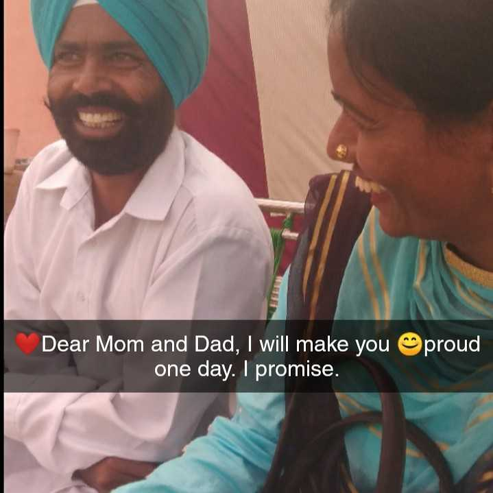 motivation - Dear Mom and Dad , I will make you one day . I promise . proud - ShareChat