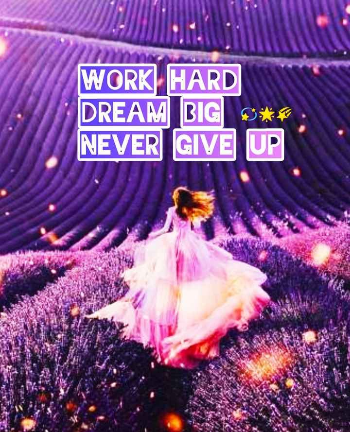 💪 motivational quotes - WORK HARD DREAM BIG * * * . NEVER GIVE UP - ShareChat