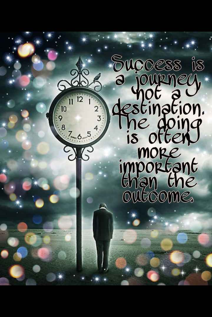 💭 motivational thoughts - as not seg 12 Success is a journey destination The doing is often more important than the OUE COME - ShareChat