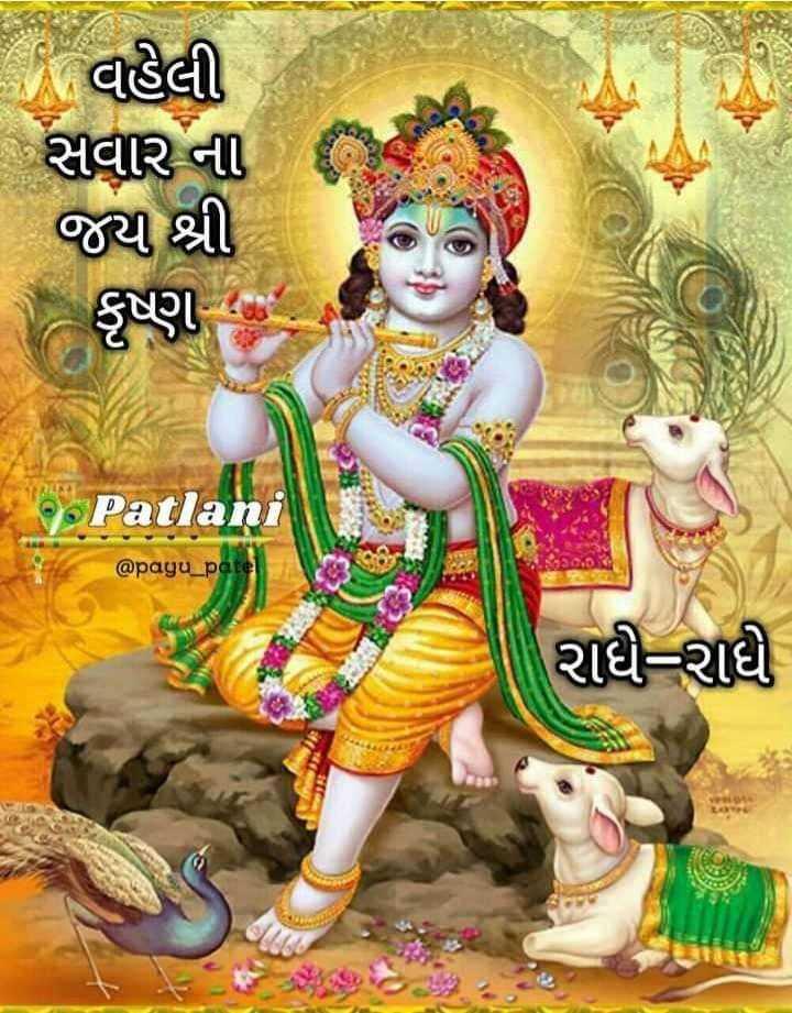 mr aju ahir 😎 - - વહેલી - સવાર ના જય શ્રી ( કૃષ્ણ ના Patlani @ payu _ patel રાધી રાી - ShareChat