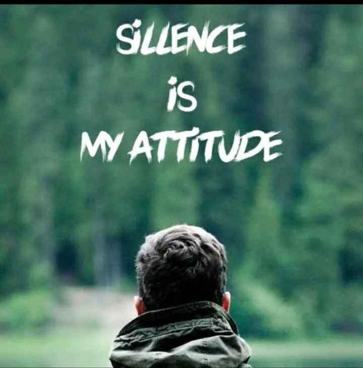 💔my attitude 💔 - SILLENCE MY ATTITUDE - ShareChat