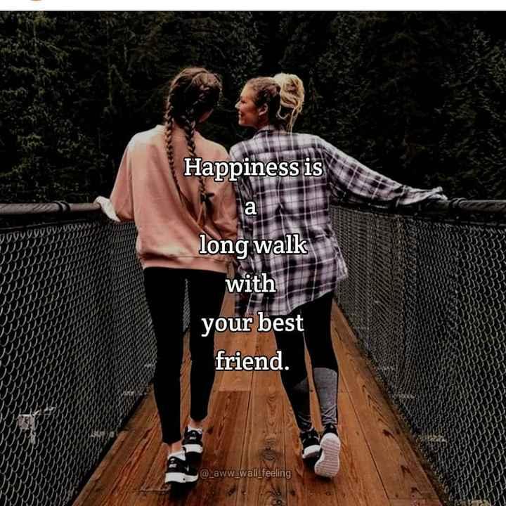 my best friend 👭👫 - Happiness is JoyGOOGUS long walk with your best friend . @ _ aww wali _ feeling - ShareChat