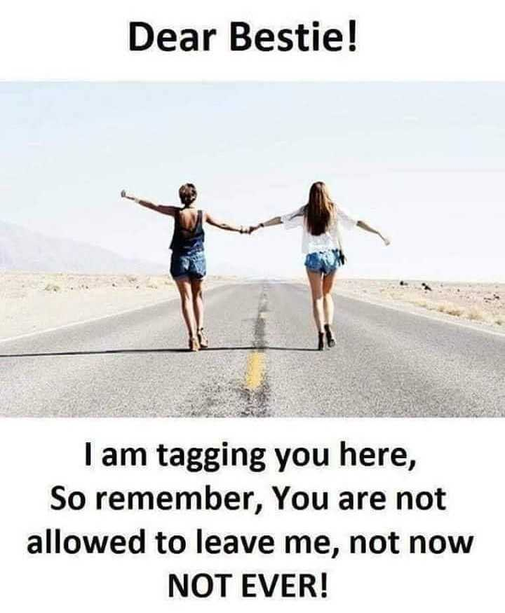 my bestti😘😘 - Dear Bestie ! I am tagging you here , So remember , You are not allowed to leave me , not now NOT EVER ! - ShareChat