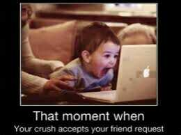 my crush 😍 - That moment when Your crush accepts your friend request - ShareChat