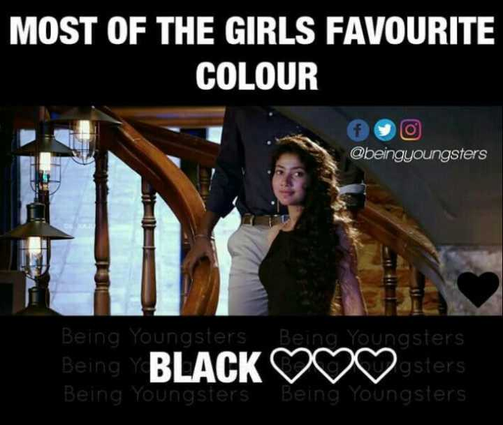 my favorite 😎😎 - MOST OF THE GIRLS FAVOURITE COLOUR @ beingyoungsters Being Youngsters Being Youngsters Being BLACK ♡♡♡sters Being Youngsters Being Youngsters - ShareChat