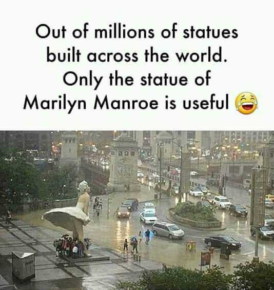 my life, my rules 🤐 - Out of millions of statues built across the world . Only the statue of Marilyn Manroe is useful - ShareChat