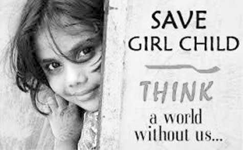 my own cartoon - SAVE GIRL CHILD THINK a world without us . . . - ShareChat