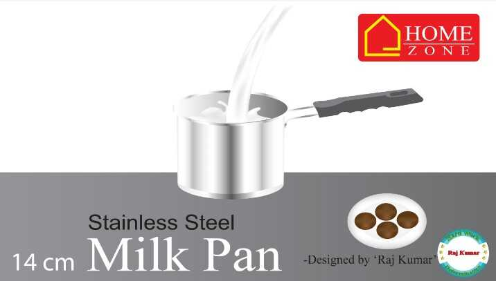 my picture - HOME ZONE Stainless Steel 14 cm M ilk Pan Designed by + Raj Kumar Sesong - ShareChat