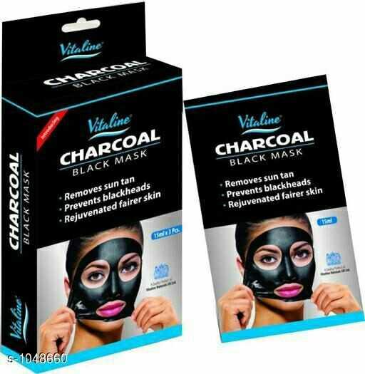 my prime shop - Vitaline CUADOR Vitaline Vitaline CHARCOAL BLACK MASK CHARCOAL BLACK MASK CHARCOAL BLACK MASK • Removes sun tan • Prevents blackheads • Rejuvenated fairer skin • Removes sun tan • Prevents blackheads • Rejuvenated fairer skin 15 / 13A Vitaline $ - 1048660 - ShareChat