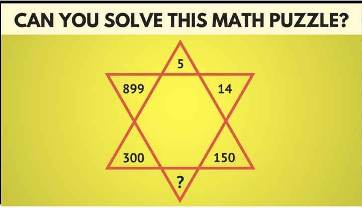 my puzzle😊 - CAN YOU SOLVE THIS MATH PUZZLE ? 899 14 300 / 150 - ShareChat