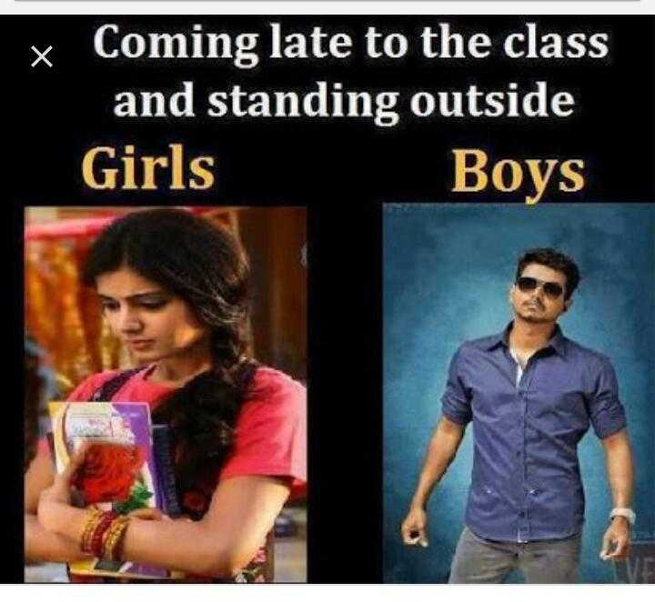 my school life - Coming late to the class and standing outside Girls Boys - ShareChat