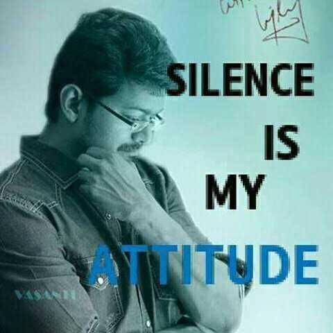 my status - SILENCE IS MY VITITUDE - ShareChat