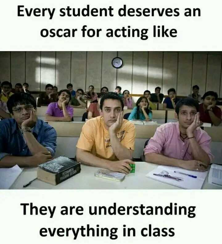my talent - Every student deserves an oscar for acting like They are understanding everything in class - ShareChat