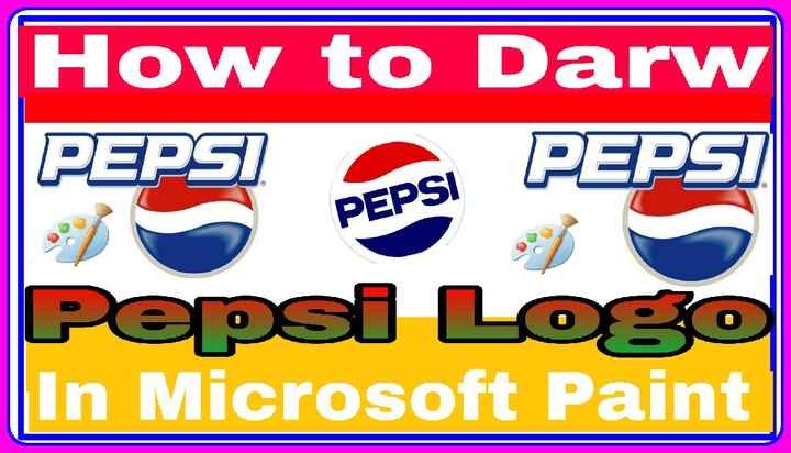 my youtube channel - How to Darw PEPSI PEPSI PEPSI Pepsi Logo In Microsoft Paint - ShareChat