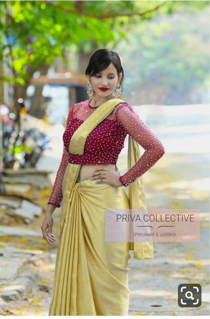 new saree - PRIVA COLLECTIVE PRIYANKA & VARSHA - ShareChat
