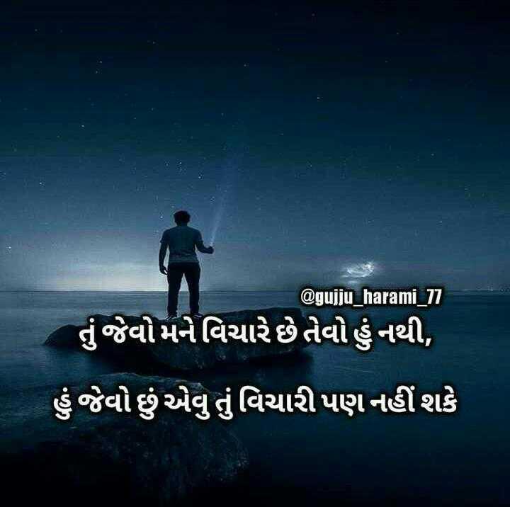 only silent - @ gujju _ harami _ 77 તું જેવો મને વિચારે છે તેવો હું નથી , હું જેવો છું એવુ તું વિચારી પણ નહીં શકે - ShareChat