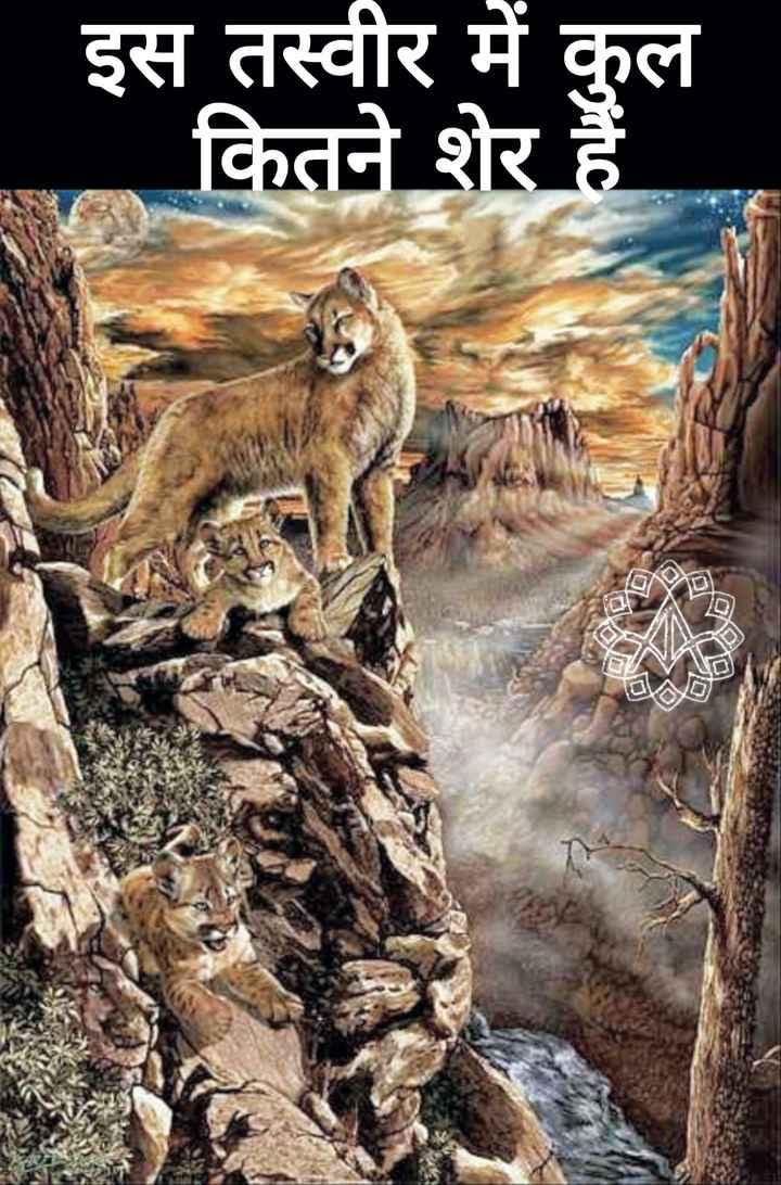 #paheli?? - इस तस्वीर में कुल कितने शेर हैं - ShareChat