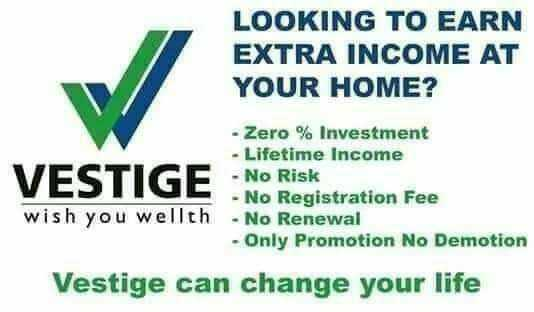 part time jobs - LOOKING TO EARN EXTRA INCOME AT YOUR HOME ? - Zero % Investment - Lifetime Income VESTIGE No Risk - No Registration Fee wish you wellth - No Renewal - Only Promotion No Demotion Vestige can change your life - ShareChat