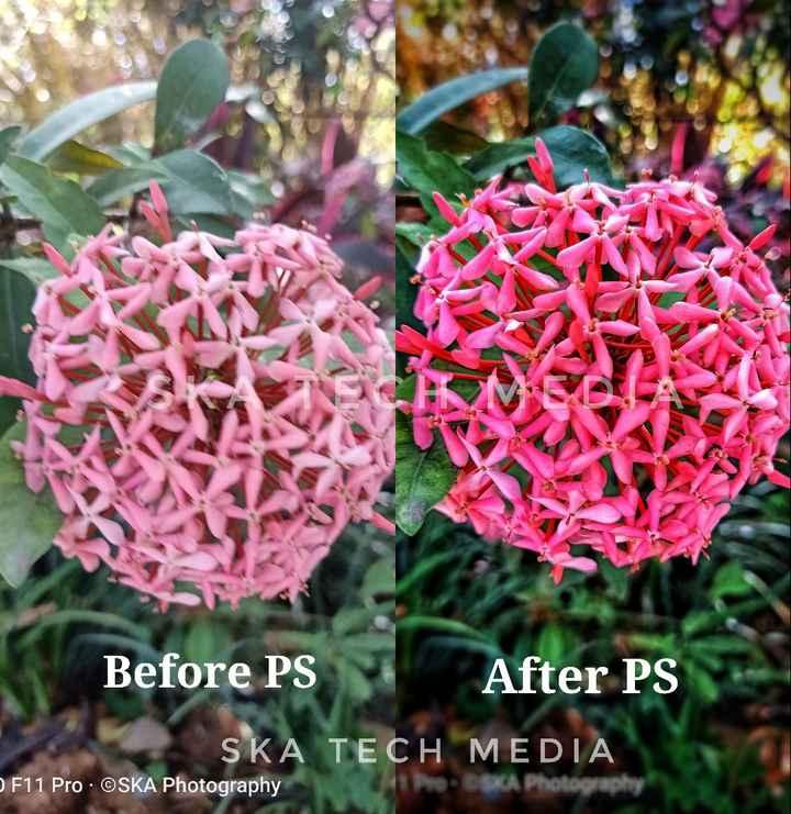 photography - Before PS After PS SKA TECH MEDIA F11 Pro . OSKA Photography - ShareChat