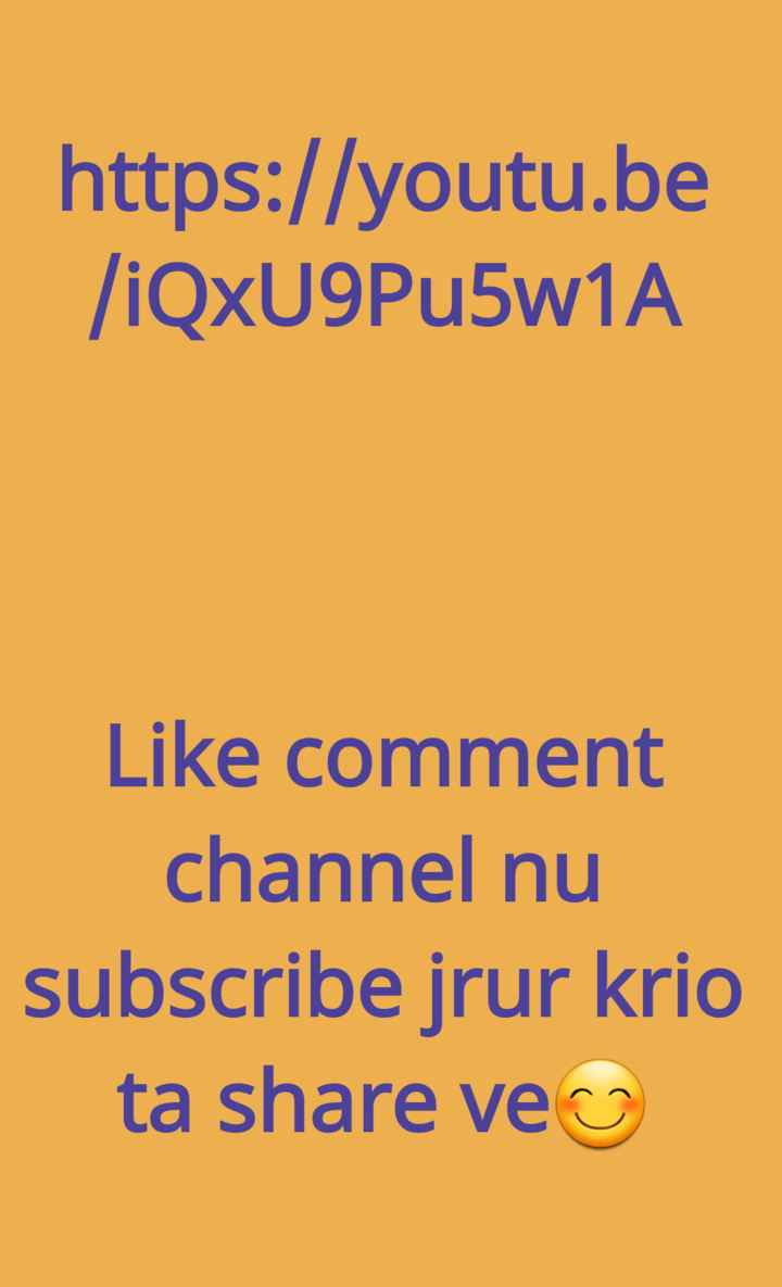 positive thoughts👍 - https : / / youtu . be / iQxU9Pu5w1A Like comment channel nu subscribe jrur krio ta share ve - ShareChat
