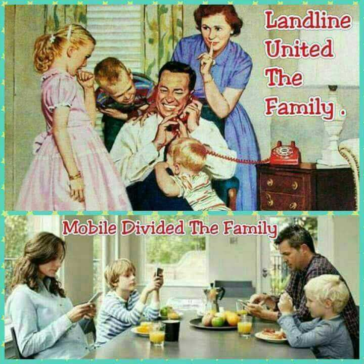 present generation - Landline United The Family Mobile Divided The Family , - ShareChat