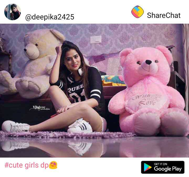 profile dp - @ deepika2425 ShareChat QUEE Y I σε Vjbgyor GET IT ON # cute girls dp Google Play - ShareChat