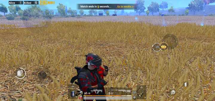 pubg special - Alive 1 Killed IS CURG MOBILE Match ends in 9 seconds . . . Go to results > > BARAT WELS - ShareChat