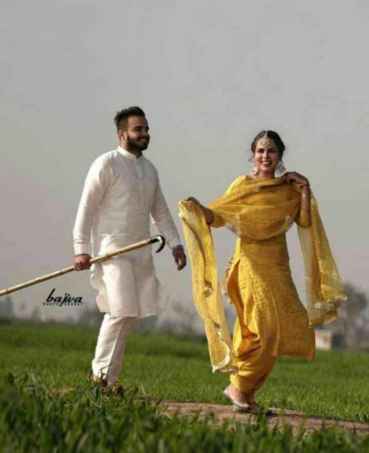 💑 punjabi couples - bajwa - ShareChat