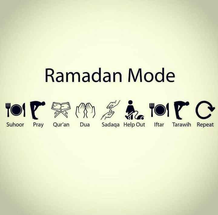 ramadan kareem - Ramadan Mode YOIP RM hayolla Suhoor Pray Qur ' an Dua Sadaqa Help Out Iftar Tarawih Repeat - ShareChat
