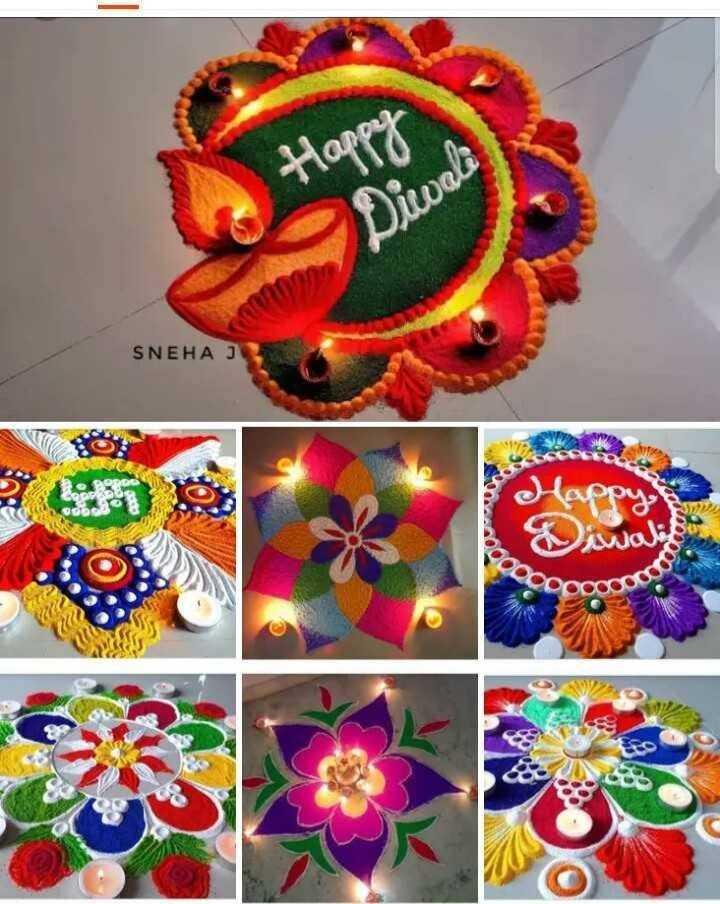 rangoli.. - Diwali SNEHA J Happy Diwali oooo - ShareChat