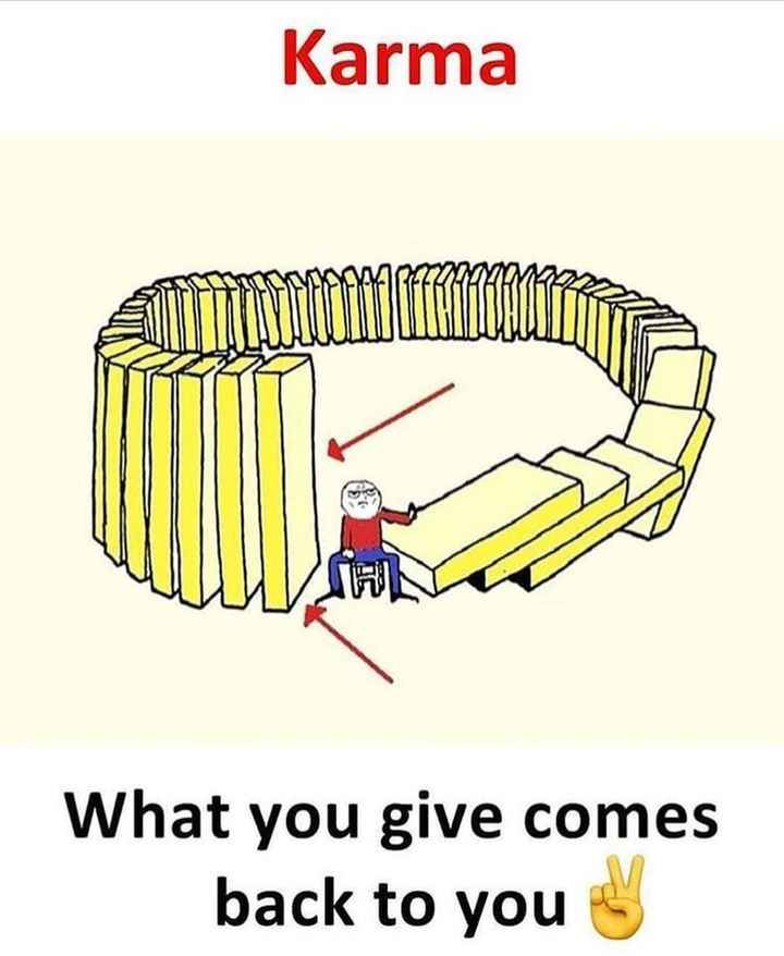 reality - Karma naman What you give comes back to you - ShareChat