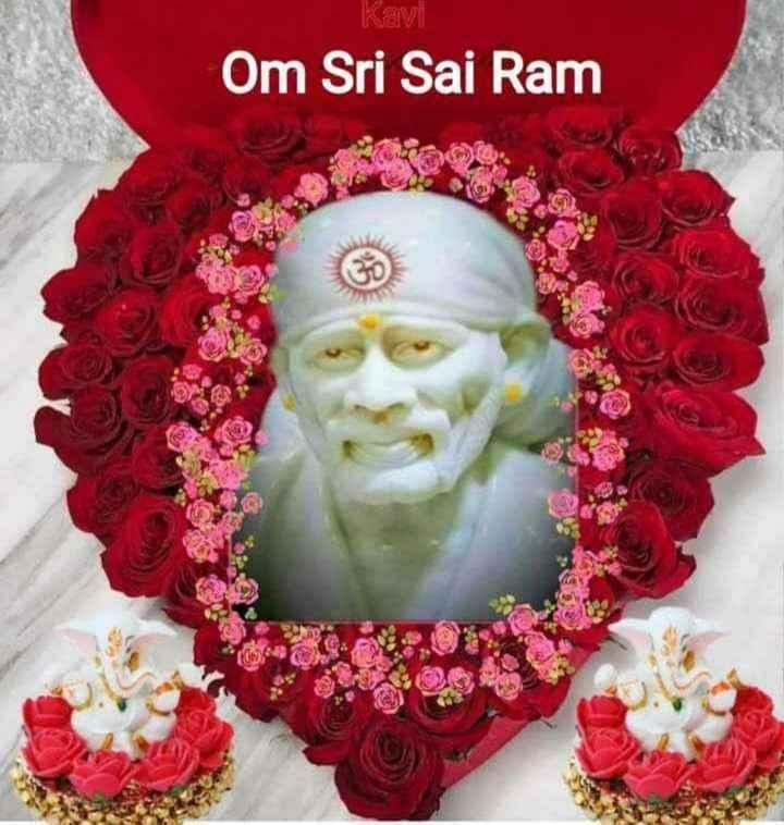 🙏sai baba - Kavi Om Sri Sai Ram - ShareChat