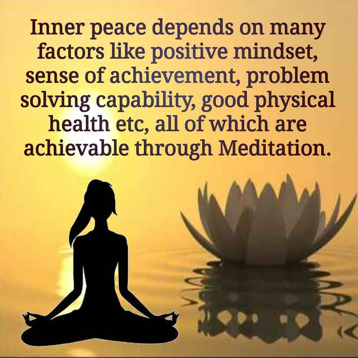 saint dr.msg - Inner peace depends on many factors like positive mindset , sense of achievement , problem solving capability , good physical health etc , all of which are achievable through Meditation . - ShareChat
